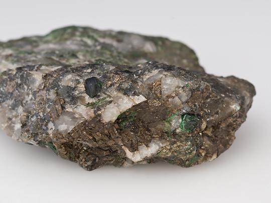 Uvarovite and pyrite